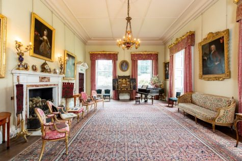 The bright interior of our stately home in Cornwall