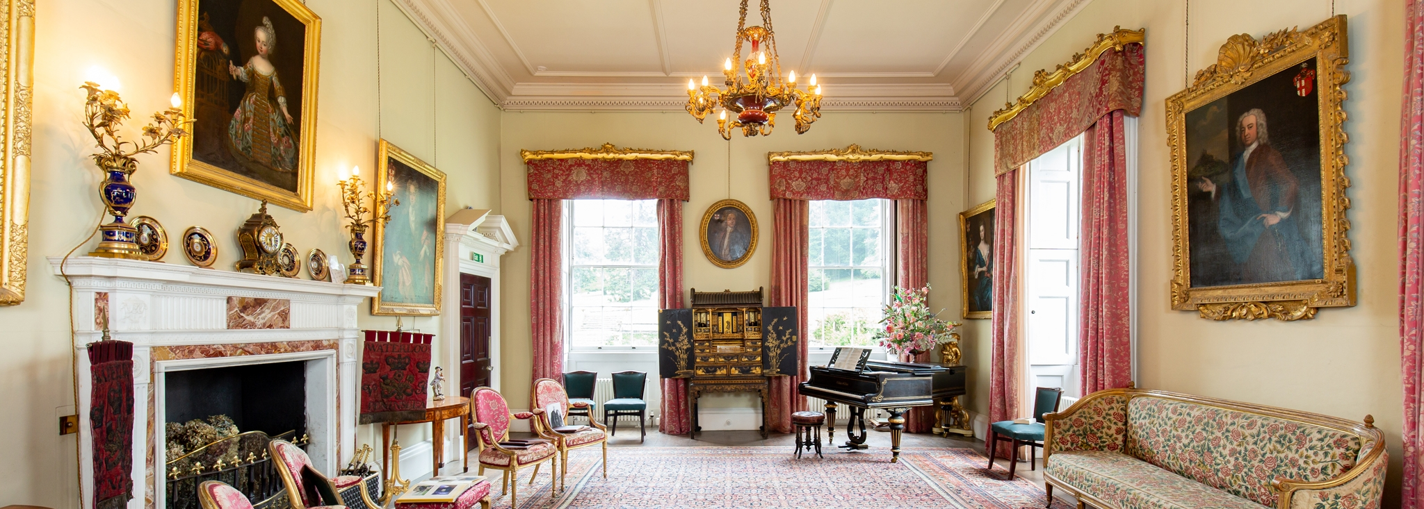 Exquisite interior design at Pencarrow House in-between Wadebridge and Bodmin, Cornwall
