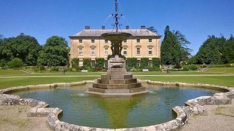 The fountain in the Pencarrow gardens